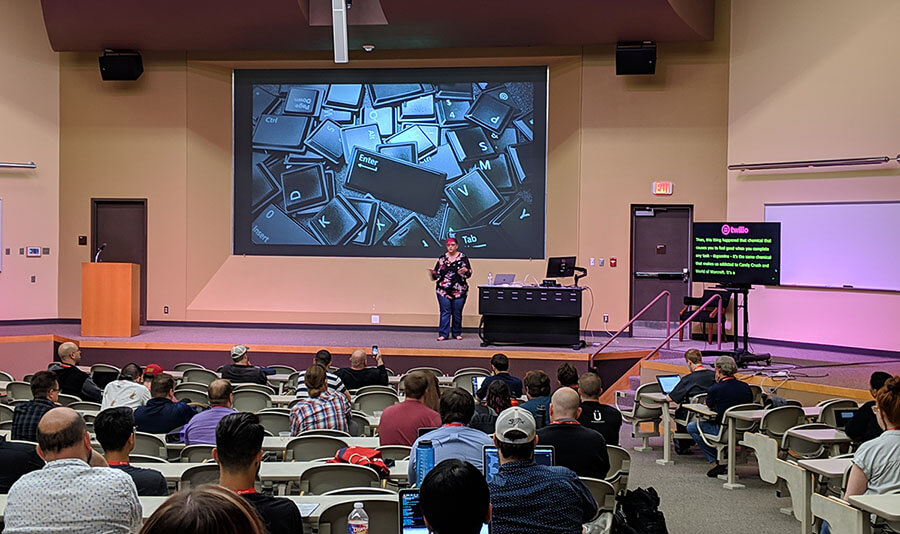 Jessica Mauerhan speaking at Longhorn PHP 2019